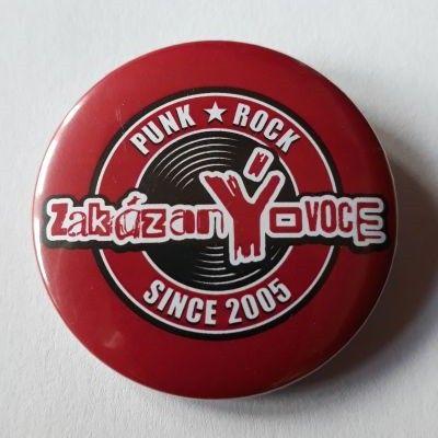 Placka Original Logo červená 44 mm - zakázanÝovoce