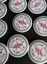 Placka Punk Rock Forever bílá 44 mm - zakázanÝovoce